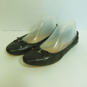 Sam Edelman Ballet Flats Black Leather Shoes